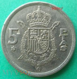 5 ptas Hiszpania 1975