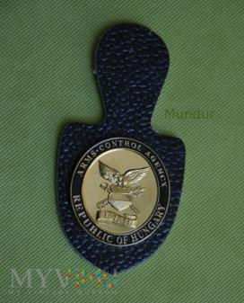 Węgierska odznaka ARMS-CONTROL AGENCY (FEH)