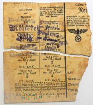 Kartka żywnościowa 1940 Zülz