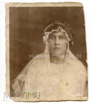 Stare zdjęcie małżeńskie (fragment) - 1924