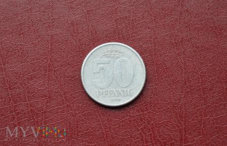 Moneta DDR: 50 pfennig