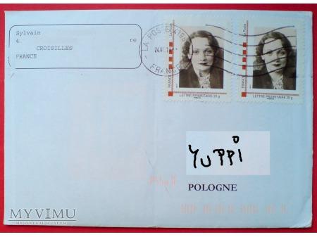 Duże zdjęcie Marlene Dietrich znaczki personalizowane FRANCJA