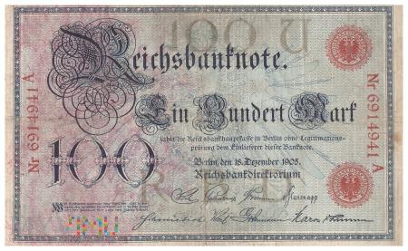 Niemcy - 100 marek (1905)