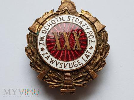 Odznaka Za Wysługę XXX Lat Jednoczęściowa Wypukła