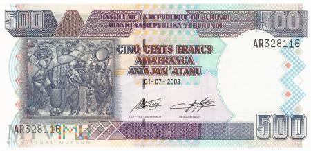 Burundi - 500 franków (2003)