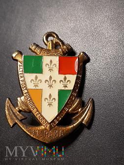Odznaka 11-tego Pułku Artylerii Morskiej - Francja