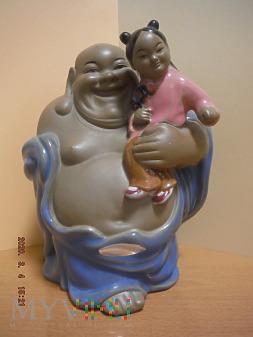Budda z dziewczynką
