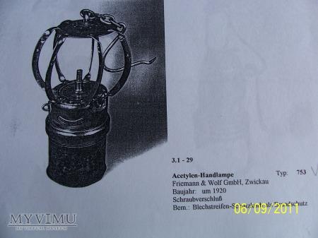 LAMPA GÓRNICZA KARBIDOWA- TYP 753