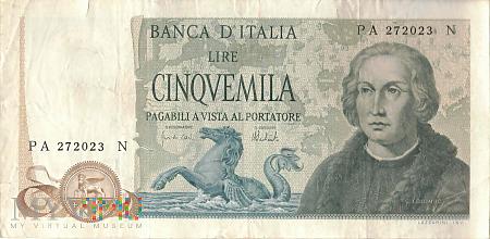 Włochy - 5 000 lirów (1973)