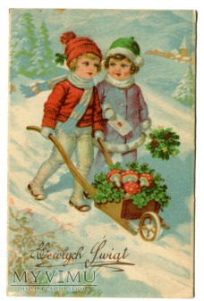 1950 Wesołych Świąt Muchomor Muchomory