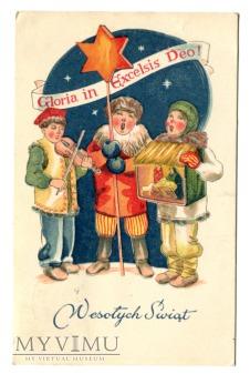 Duże zdjęcie 1948 Gloria in Excelsis Deo życzenia Świąteczne