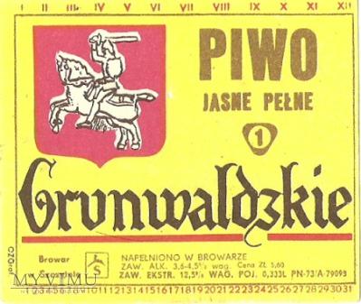 Browar Szczytno Piwo jasne pełne Grunwaldzkie