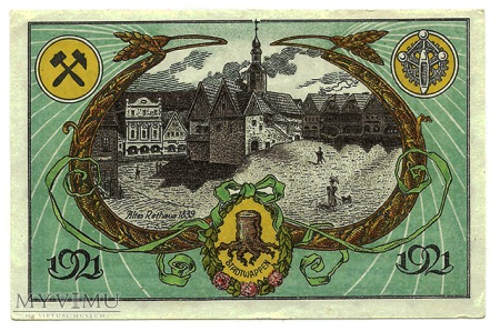 50 pfennig 1921 Stary Ratusz
