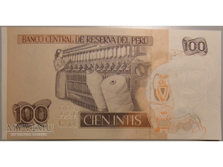 100 intis Peru