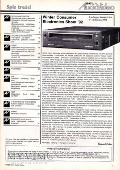 SAT AUDIO VIDEO 1992 rok, cz.I
