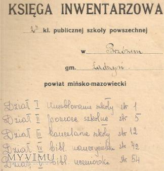 Księga Inwetarzowa Brzóze gmina Mińsk Maz.