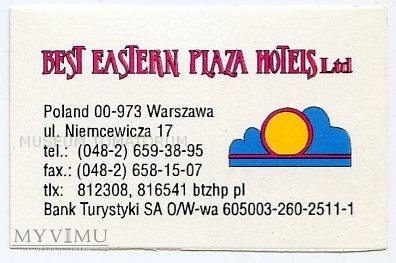 Duże zdjęcie Nalepka hotelowa - Warszawa - Best Eastern Piaza..