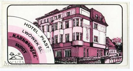 Nalepka hotelowa - Lwówek Śląski - Hotel Piast
