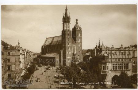 Kraków - Rynek - Kościół Mariacki - 1927