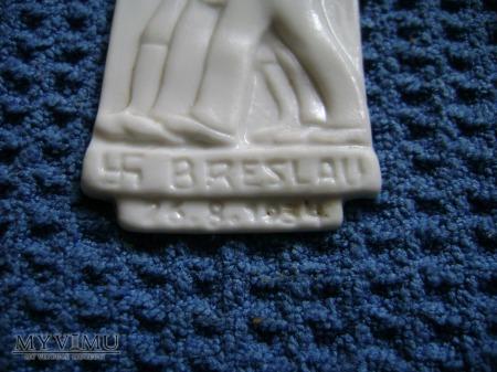 Porcelanowa odznaka NSDAP Breslau 1934
