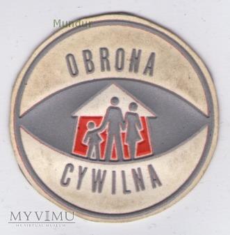 Emblemat OBRONA CYWILNA 70mm