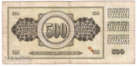 Jugosławia, 500 dinarów 1978r