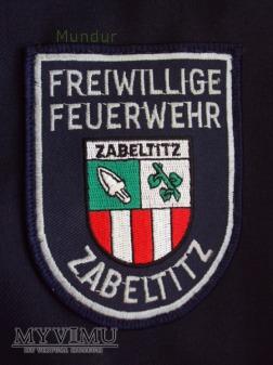 Oznaka Freiwillige Feuerwehr Zabeltitz