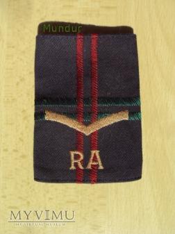 Wieka Brytania - oznaka stopnia: RA