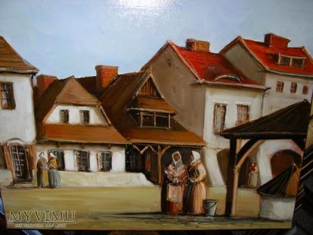 Przekupki na Rynku w Kazimierzu - olej