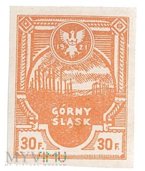 Duże zdjęcie Powstańczy znaczek pocztowy- 1921- 30 fenigów