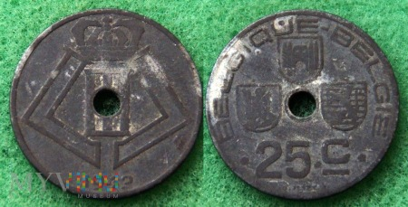 Belgia, 1942, 25 Centimes