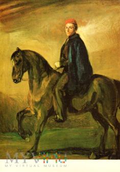 Młody człowiek na koniu ok.1845-55