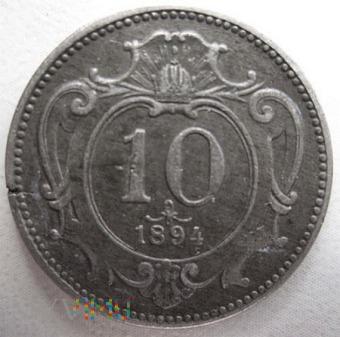 10 halerzy 1894 r. Austria (austro-węgry)