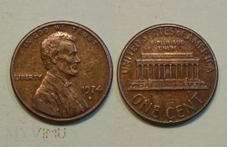 USA, ONE CENT 1974