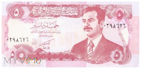 Irak - 5 dinarów (1992)