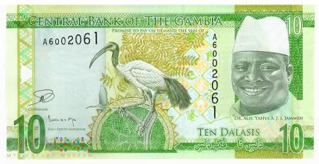 Gambia - 10 dalasis (2015)