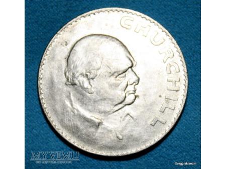 Śmierć Sir Winstona Churchilla Moneta pamiątkowa