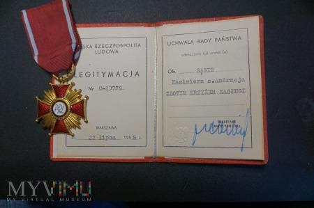 Legitymacja Złotego Krzyża Zasługi z 1958r.