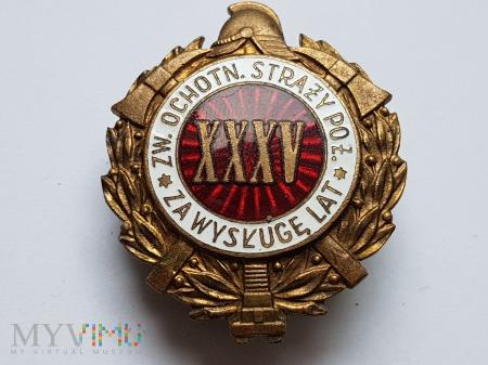 Odznaka Za Wysługę XXXV Lat Jednoczęściowa Wypukła