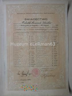 Świadectwo por. Ochalika z 4 BSap. 1928/31 r.