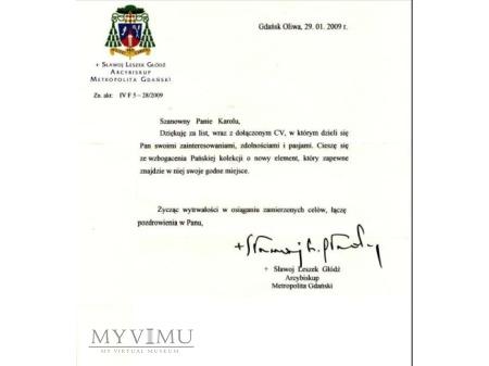 List od Arcybiskupa Sławoja Leszka Głódzia
