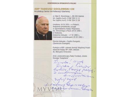 Autograf Abpa Tadeusza Gocłowskiego