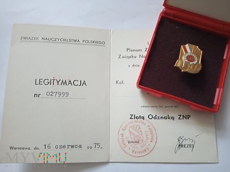Złota Odznaka ZNP