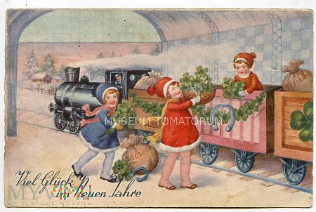 Pozdrowienia noworoczne - lata 30-te XX wieku