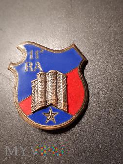 Pamiątkowa Odznaka 11 Pułku Artylerii - Francja
