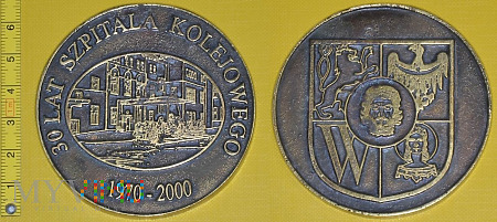 Medal kolejowy - usługowy Szpitala K. we Wrocławiu