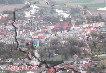 Szprotawa - Panorama miasta z lotu ptaka