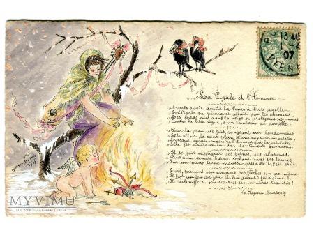1907 Konik Polny i Miłość La Cigale et L'Amour