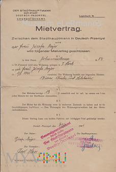 Umowa Najmu. Deutsch Przemyśl 31.07.41 r.