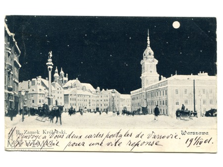 1901 Księżyc nad Warszawą WARSZAWA Kair Egipt